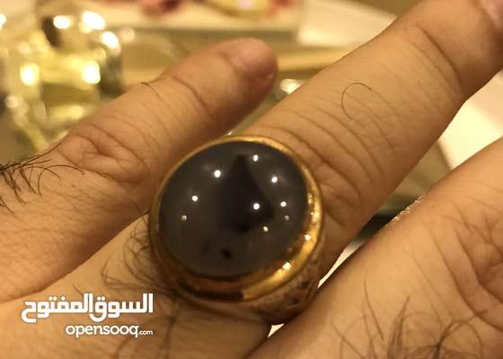 للبيع خاتم فضة عقيق يمني