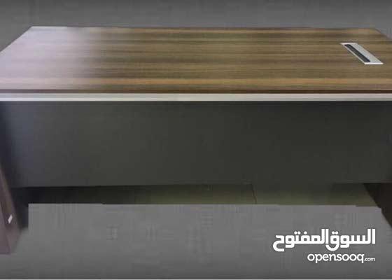 New Brown Office Desk/ للبيع مكتب جديد  لون بني