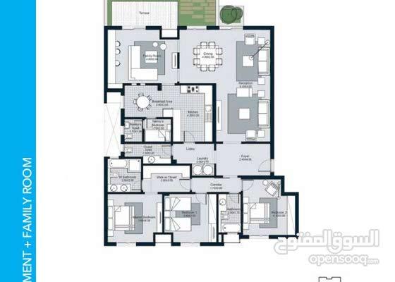 شقة ارضى بجاردن للبيع فى كورت يارد الشيخ زايد  Apartment for sale in Courtyards Sheikh Zayed