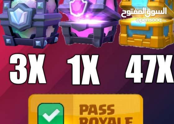 حساب كلاش رويال اسطوري فيه أكثر من 50 صندوق