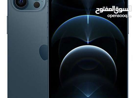 iphone12 pro max لون ازرق محيطى 128 جيجا