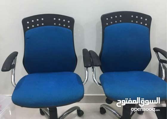 كرسيين مكتب للبيع