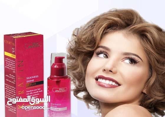 سيروم لمعالجة الشعر بالكيراتين لشعر ناعم و مالس يشكل طبقة على الشعر ضد الحرارة.