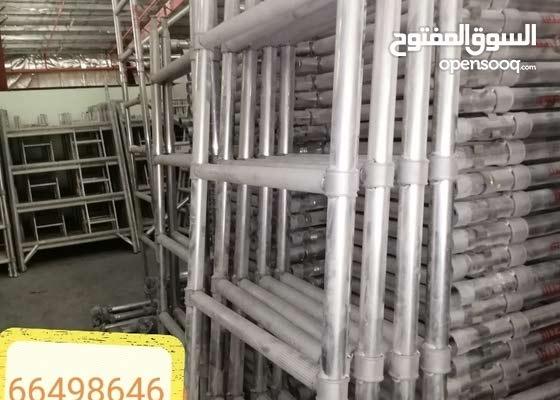 سقالات المنيوم شبه جديدة. aluminum mobile scaffolding