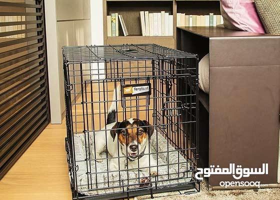 24 / كونتور صندوق كلب مزدوج الباب 45.7 عرض × 48.2 ارتفاع × 61 لتر سم
