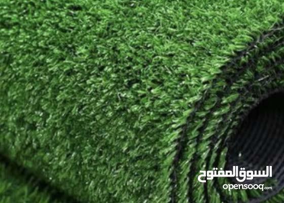للبيع عشب اصطناعي سجاد اخضر جديد واسعار رمزيه