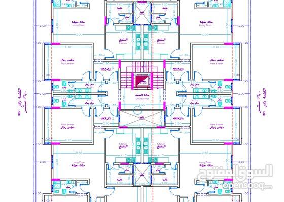 مهندسة معمارية (رسم وتصميم المخططات المعمارية والتنفيذية الصحية والكهربائية والانشائية عن بعد)