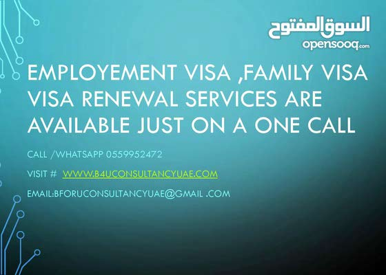 Services for new visa,family visa , visa renewal are available