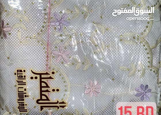 مفارش سرير وشراشف مطرزة قطن 100٪