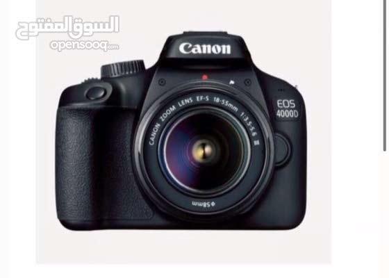 للبيع كاميرا كانون  4000D لم تستعمل الا مره واحده فقط