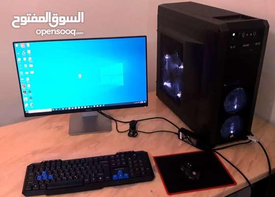 للبيع كمبيوتر للألعاب GAMING PC او للتصميم مع شاشة واتسآب 0556811862