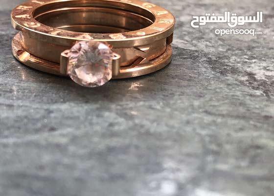 bulgari diamond rings silver and gold
