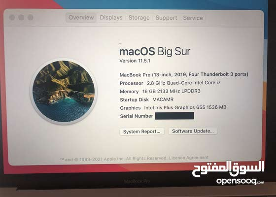 "MacBook Pro 2019 13"" Ci7/16gb/1tb almost new"