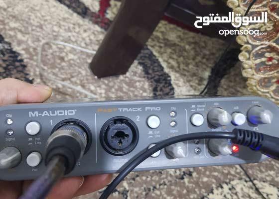 كرت صوت  من شركة m-audio اثنين شانيل