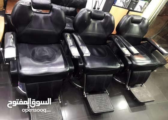 For sale 3 mens barber chairs  - للبيع كراسي حلاقه رجالي عدد 3