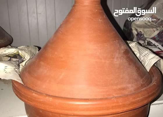 طواجن فخار طبيعي / اطقم الشاي المغربي/ طنجره الكسكسي