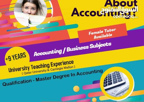 Accounting Tutor (University/Higher studies)