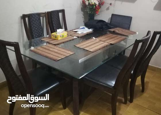 Dinning and L shape sofa for sale