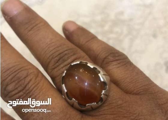 خاتم عقيق يمني عمر الحجر اكثر من ماية عام