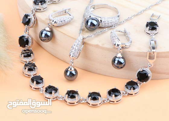 Black and silver 925 Jewellery Set