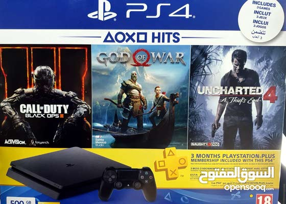 PS4 new with 3 games and 3 months PS plus