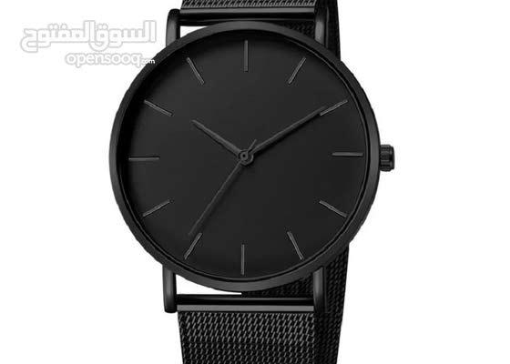 ساعات رجالية رائعة باللون الأسود
