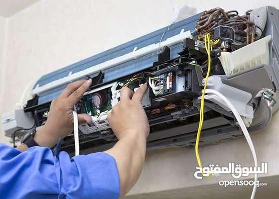 صيانة و تركيب وبيع جميع انواع المكيفات شحن غاز قطع غيار أصلية مع غسيل المكيف بطر
