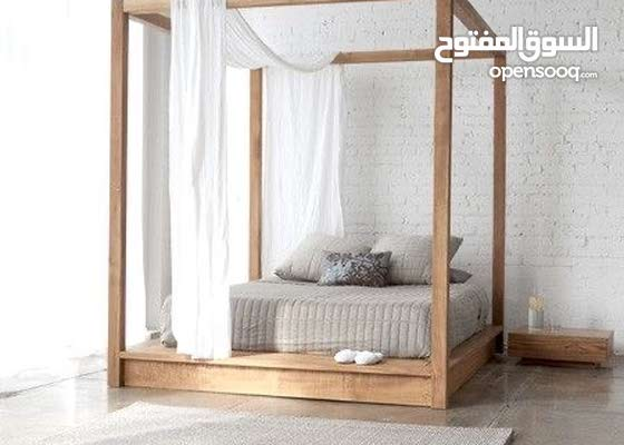 canopy solid wood bed /daybed free delivery سرير خشب صلب