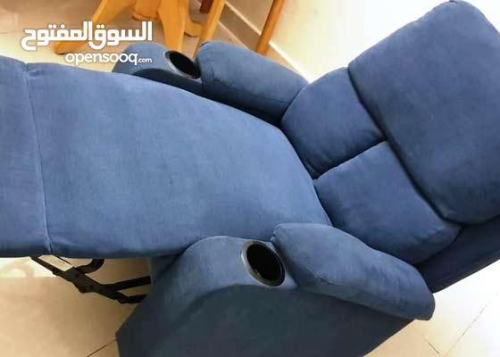 Acme 59545 Rosia blue linen fabric recliner chair
