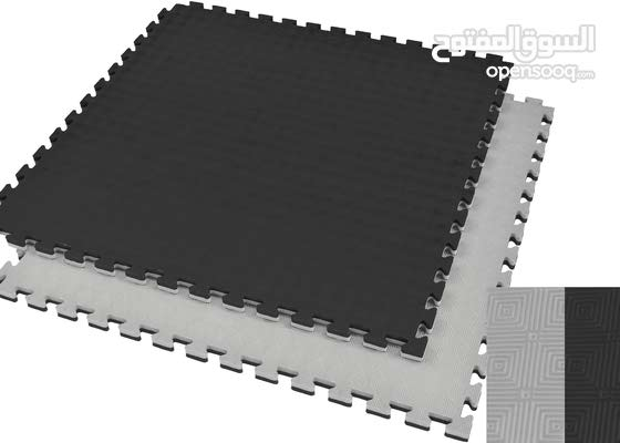Black/Gray  Gym Floor Mat ( 1M Sqaure, 2.5cm thickness )