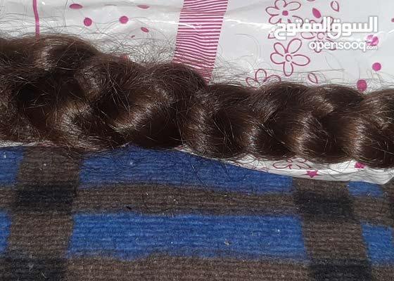 شعر طبيعي ضفيره للبيع 50 سم وزن 200 غرام