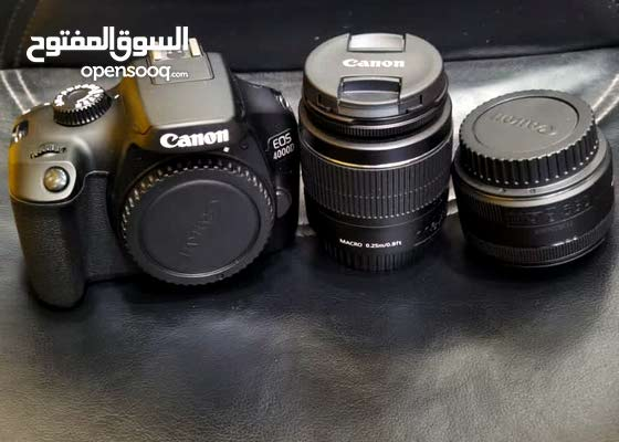 Canon 4000D with 2 lenses and tripod
