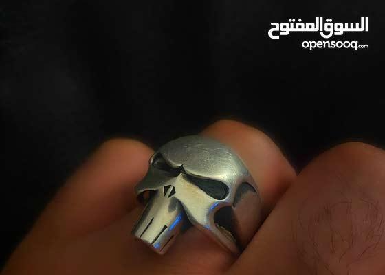 خاتم فضة ايطالي مطلي روديوم