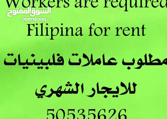 Workers are required Filipina for rent
