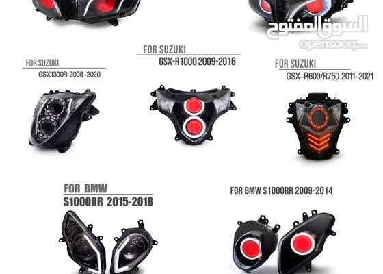 FOR sport bike 2004-2019 LED DEMON EYE HEADLIGHT ASSEMBLY V1-B