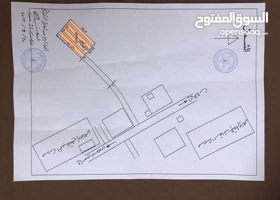 قطعه ارض 1000 متر في البراشيش بالقرب من مدرسه المجد