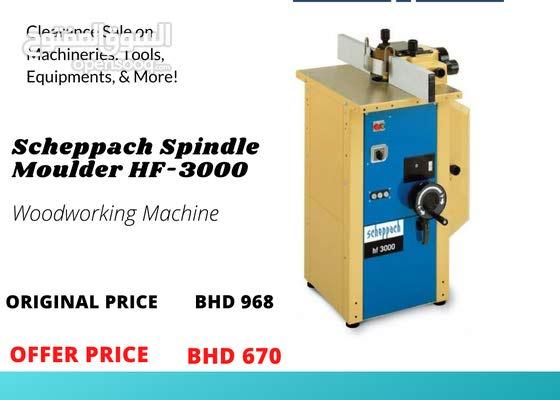 New Scheppach Spindle Moulder Carpentry Machine