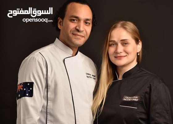 pastry chef شيف حلوانى  ( فريق عمل يتكون من زوجين )