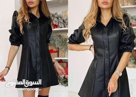 فستان اسود جلد قصير للبيع