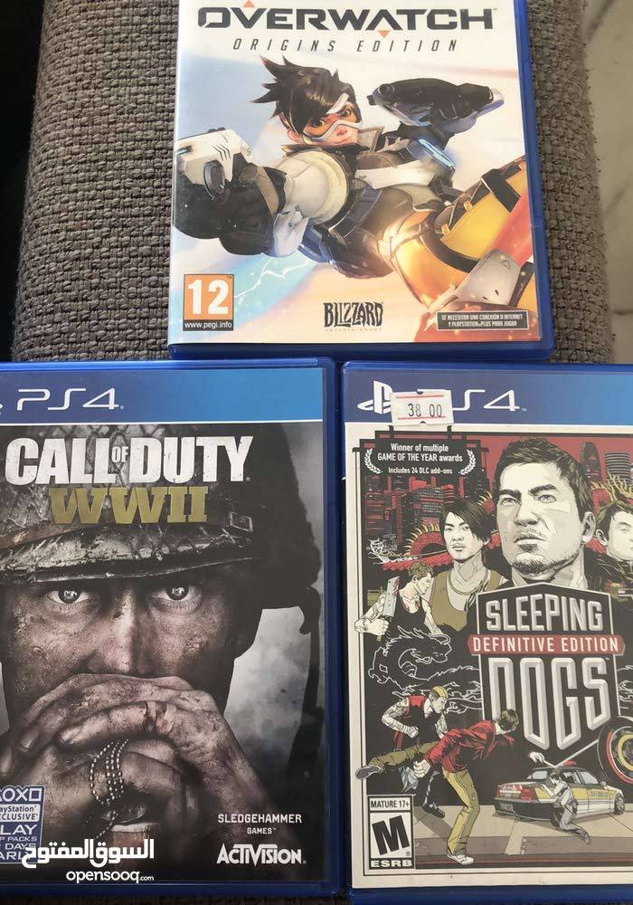 call of duty wwII AND  overwatch AND sleeping dogs