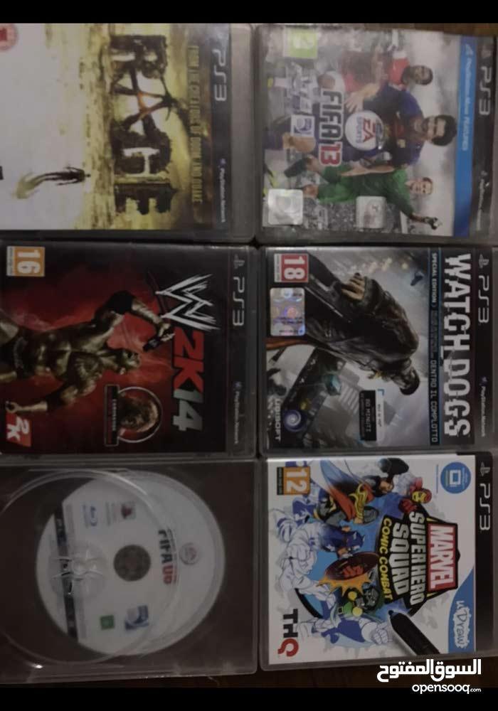 دسكات PS3 + يد PS3 للبيع