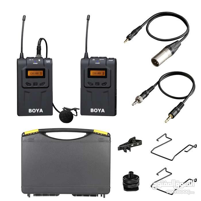 نك مايك وايرليس Boya Wm6 الجهاز قطعتين صوت واضح جدا