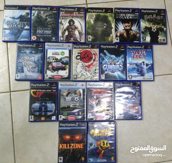 35 BHD PS2+16 games+Racing wheel