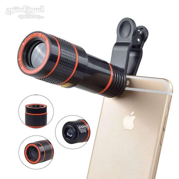 عدسة تلسكوب صالحة لجميع الهواتف - Universal 8X Zoom Mobile Phone Telescope Lens