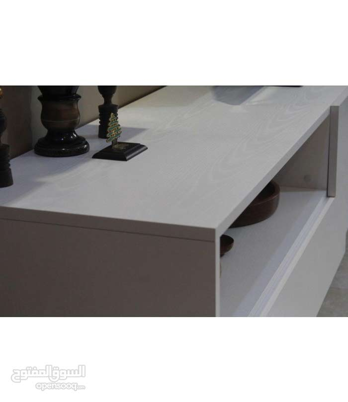طقم كامل طاولة تلفاز + طاولة قهوه + منظم