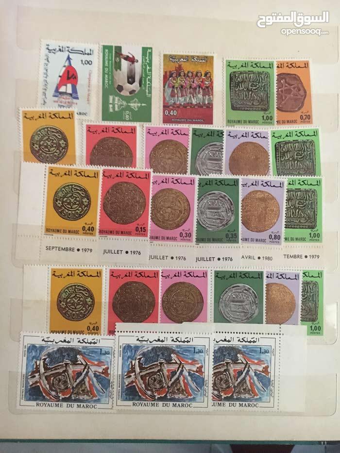 نقود مغربية قديما وطوابع جدا