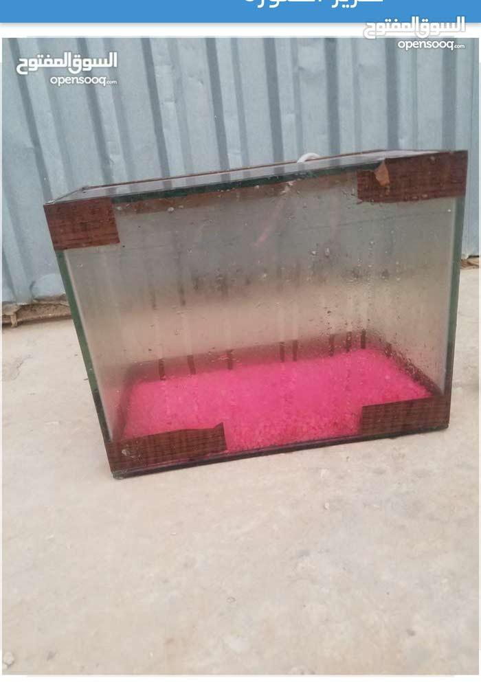 حوض سمك للبيع بسعر15 دينار وقابل للتفاوض مع حجر زينه