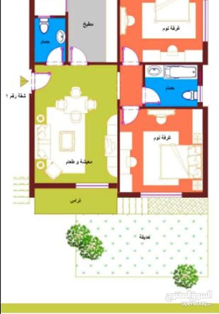 شقة دور ارضى 95 متر مع حديقة