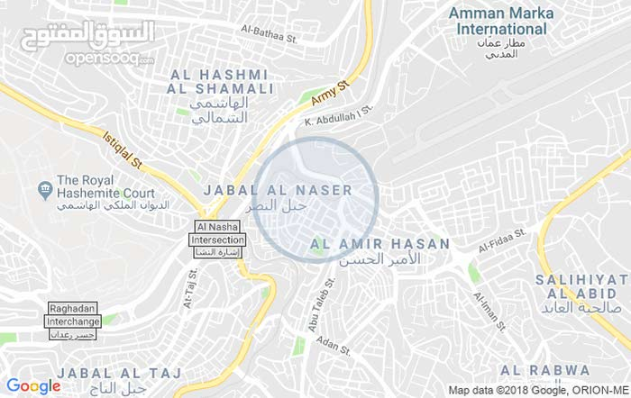 Fourth Floor  apartment for rent with 2 rooms - Amman city Jabal Al Naser
