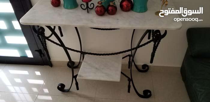 Italian marble table set.